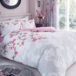 Roseanne Floral Double Duvet Cover and Pillowcase Set – Grey