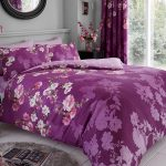 Roseanne Floral Double Duvet Cover and Pillowcase Set – Purple