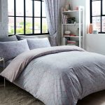 Metro Prism Triangle Double Duvet Cover Set – Blush / Grey