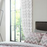 Metro Chevron Lined Curtains – Grey