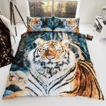 Tiger King Size Duvet Cover and Pillowcases Set