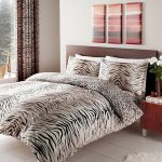 Tiger Skin Print Double Reversible Duvet Cover Set