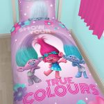 Trolls Glow Single Duvet Cover and Pillowcase Set