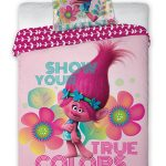 Trolls Poppy Single Cotton Duvet Cover and Pillowcase Set