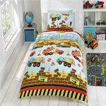 Under Construction Single Duvet Cover and Pillowcase Set