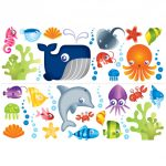 Under the Sea Stikaround Wall Stickers – 35 Pieces