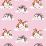 Rainbow Unicorns Wallpaper Pink 6303
