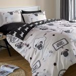 Pug Walkies Double Duvet Cover and Pillowcase Set