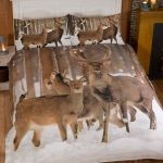 Winter Stag Double Duvet Cover and Pillowcase Set