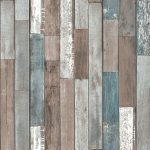 Wood Planks Wallpaper Blue Fine Decor FD40888