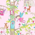 Woodland Fairies Glitter Wallpaper Pink Arthouse 667000