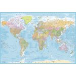 World Map Wall Mural – New 2.32m x 1.58m