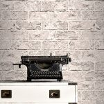 Taupe Grey and Black Brick Effect Wallpaper Windsor Wallcoverings